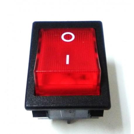 Interruptor Rojo Verde 30x22mm 230V Bipolar