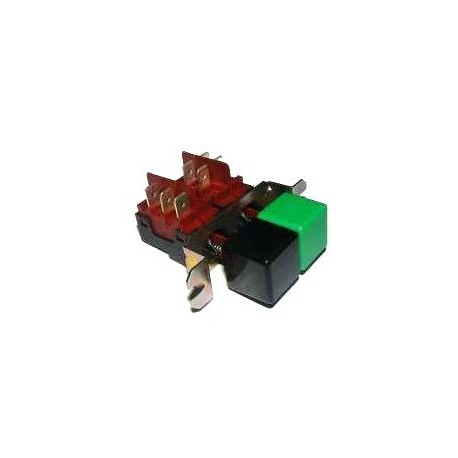 Interruptor Doble VERDE-NEGRO B-303F