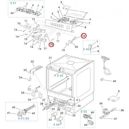 Lavavajillas Tipo de producto: Conmutador Marca: Crystal Line