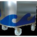 Acoplar 4 ruedas a soporte de mostrador de pescadería