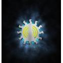 "Exterminador de insectos LED serie BC modelo ""Sol"" / 9 w. inoxidable Dimensiones: 350x84x350 mm."