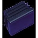 Taco de plástico de 40x30 mm. con aletas Color: azul