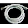 """Latiguillo blanco H-H de 1/2"""" 2000 mm. para ducha de gran alcance"""