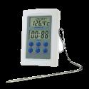 Termómetro digital con sonda para horno 50x6x75 mm. De -50ºC a +300ºC - Alarma programable y cable de 1000 mm.